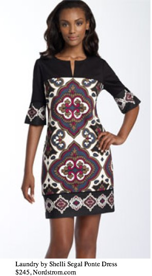 Laundry by Shelli Segal Printed Ponte Knit Dress - - Nordstrom