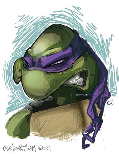 "Turtle_Donny_sketch   (( 2009 )) [[ the work of Alex ""Toon"" Deligiannis ]]"