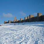 Avila: Muralla Medieval en invierno