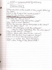 season 1 questions