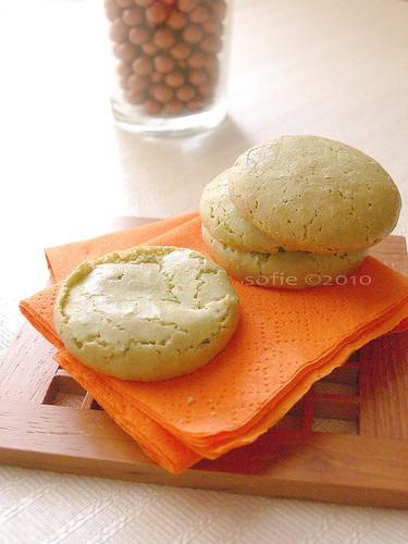 green tea macaroon