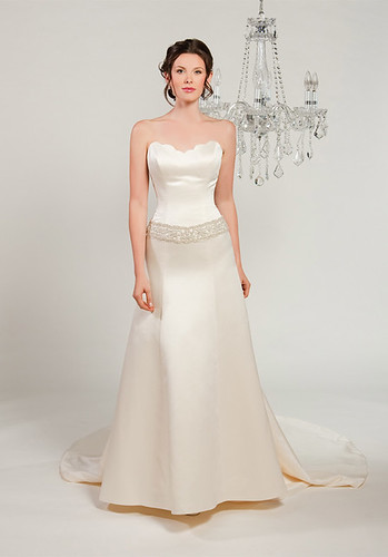 Strapless wedding dresses with a simple model