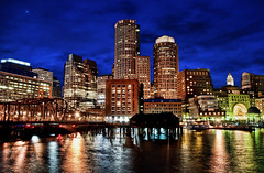 (Michael_Underwood) Tags: city longexposure boston night cityscape hdr topaz adjust bostonist fanpier bostonmassachusetts nikond90 bostonwaterfront nikon1685vr