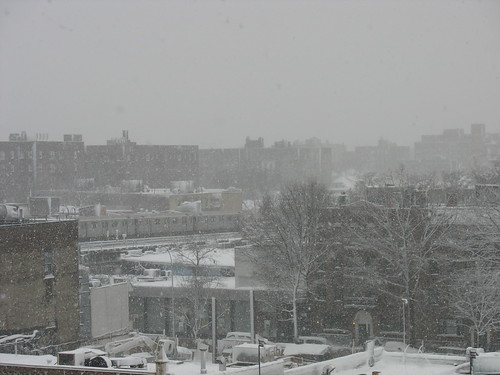 Jackson Heights panorama during snowstorm 1