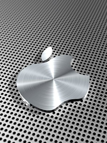 iPad Aluminum Apple Logo Wallpaper