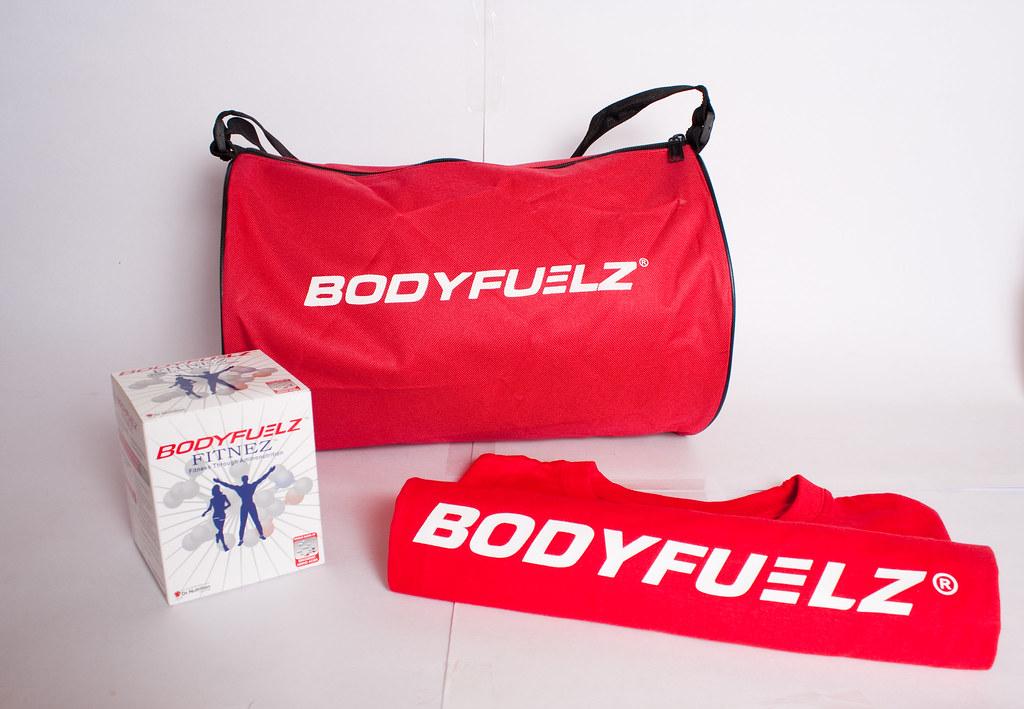 BODYFUELZ FITNEZ, BODYFYELZ Gym Bag (small) and T-shirt