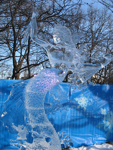 Mermaid in ice