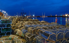 Lobster Pots (Pickweb.) Tags: sea fish night port dock marine harbour yorkshire scarborough