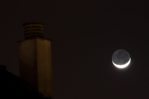 Moon and a roof top