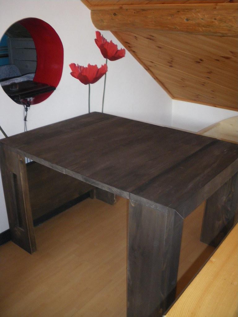 table console extensible ébéne 5