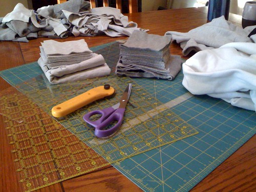 Life: Sweatshirt Quilt In The Making