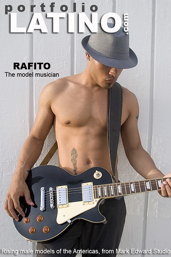 sexy shirtless latin model and musician