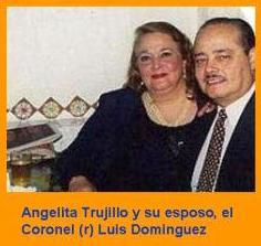 Angelita Trujillo y su marido, el coronel (r) Luis Dominguez