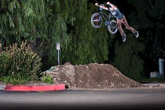 Mikey Parking Lot Dirt Jump Superman (brandonmeans) Tags: california wild 3 three crazy jump secret rad brandon mikey superman southern dirt nightime jefferson coalition temecula premium means the haro strobes babbel seeuentee
