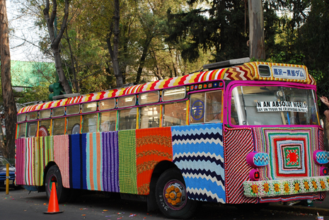 KnittaPlease at Mexico City Bus Project