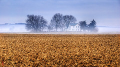 Kansas Farmhouse (Kansas Poetry (Patrick)) Tags: fog farmhouse lawrence patrick nancy kansas loves completely flickrsbest platinumphoto flickrdiamond theunforgettablepictures absolutelystunninglandscapes favoriteofmyfavorites colorsoftheheart