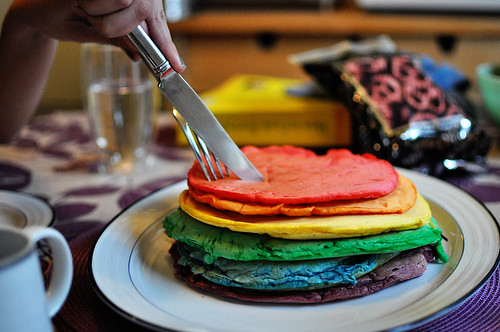 Giant Rainbow Pancake