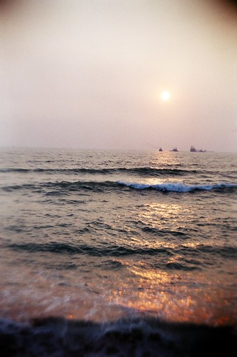 旗津風車公園的海邊