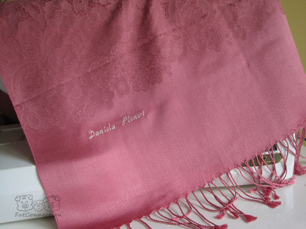 Customised embroidery on shawl