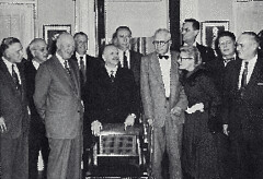 Bernays with President Eisenhower