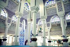 Pillars of Religion (shafik100) Tags: window architecture worship muslim islam prayer religion pray pillar arches stainedglass mosque holy tiles malaysia pillars masjid kuantan pahang islamic moslem prayerhall statemosque masjidsultanahmadshah sultanahmadshahmosque kuantanmosque