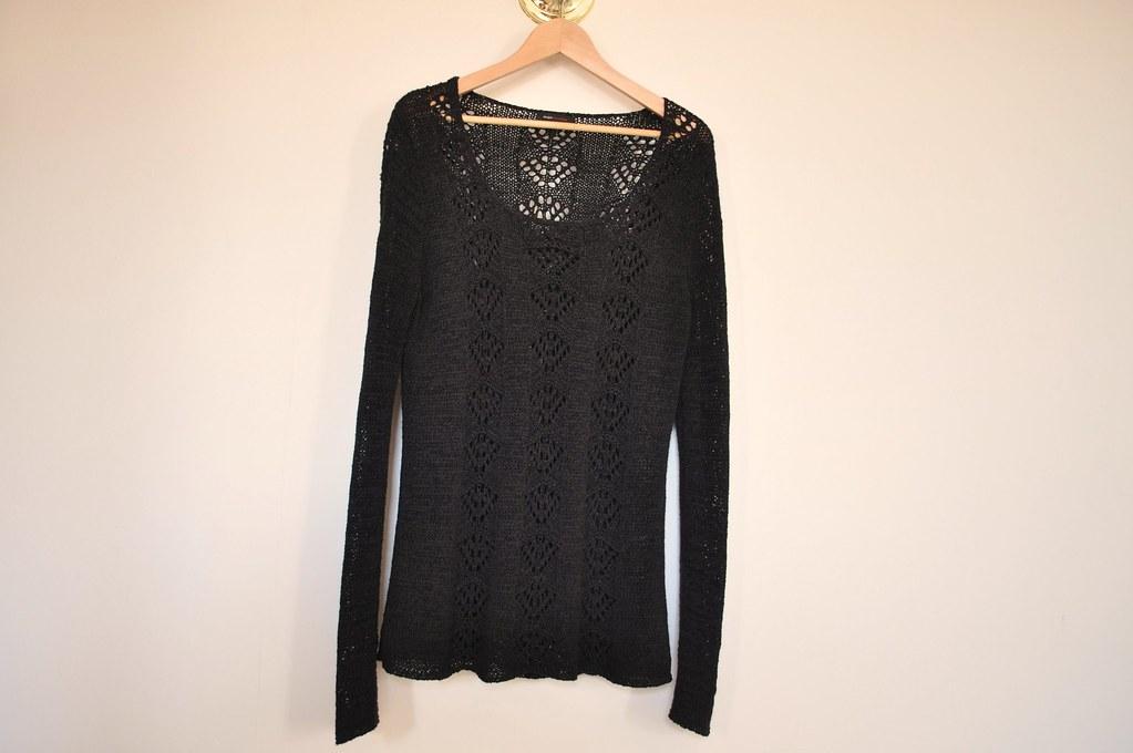 bcbg crochet pullover