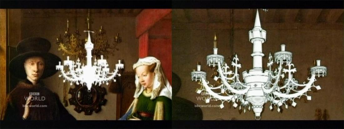 Модель люстры с картины