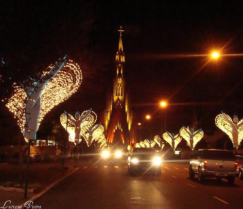 Igreja matriz de Canela no Natal