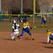 #33, Ashley Munoz, safe at second