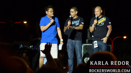 Hosts at the Paramore Concert in Manila