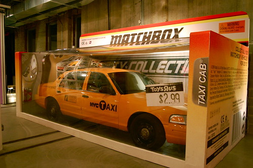 Life-sized NYC taxi