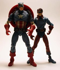 Captain America & Bucky (Corey's Toybox) Tags: toy actionfigure figure marvel captainamerica bucky hasbro marveluniverse 375