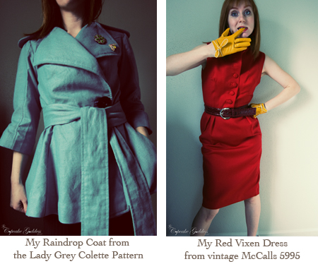 Raindrop Coat and Vixen Dress