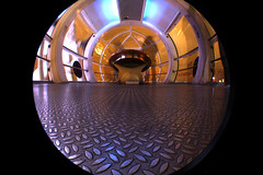 London iPod (charliedotgilbert) Tags: longexposure pod floor londoneye capsule wideangle fisheye slowshutterspeed londonist
