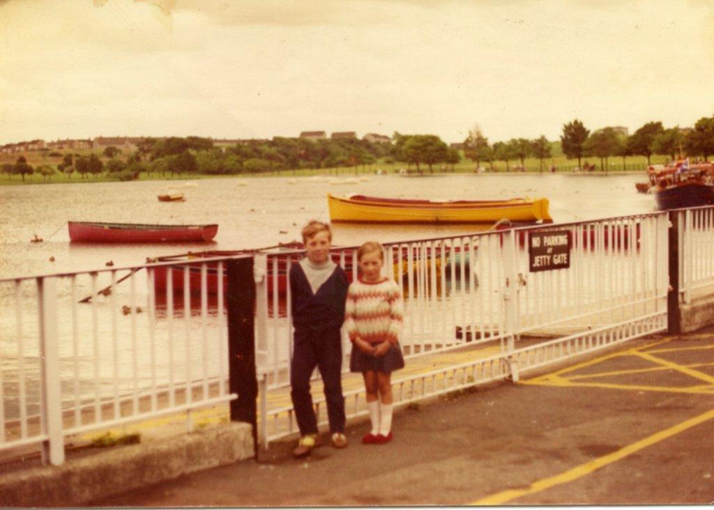 Liz and William at Huggie Loch, 1973.