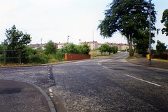 Image titled Gartcraig Road, leading to Motorway (formerly the canal) 1994