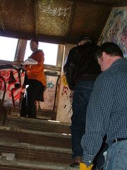 Attempting to find the entrance to the vaults... (mcsdetroitfriend) Tags: train mit detroit repair depot expert vaults corktown ambassadorbridge michigancentralstation guastavino