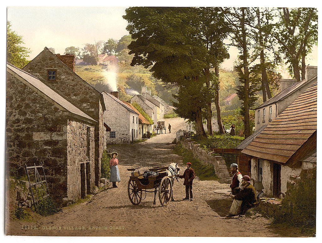 Glenoe Village. County Antrim, Ireland
