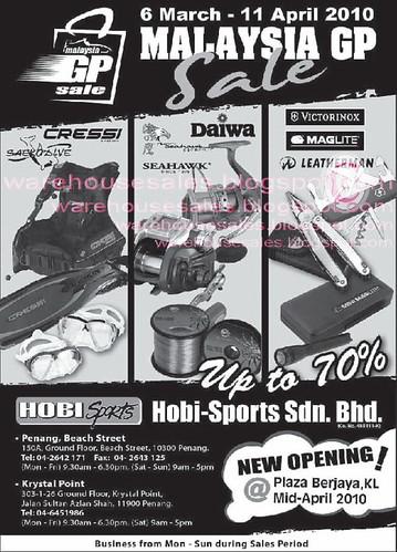 6 Mar - 11 Apr: Malaysia GP Sale @ Penang
