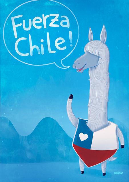 Fuerza Chile ilustración