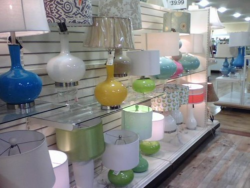 HomeGoods lamps by Girl Reading.