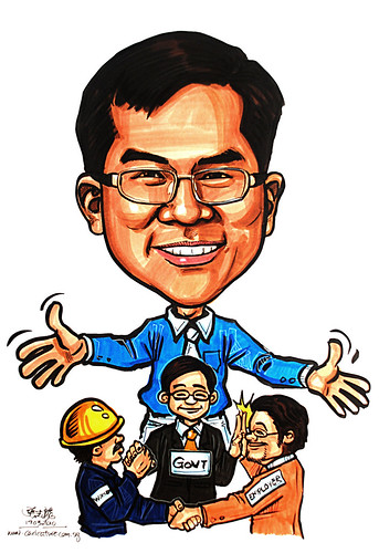 Caricature for Ministry of Manpower - 7