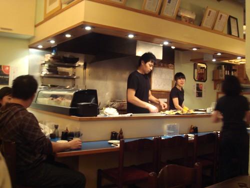 Yakitori grill at Jinkichi