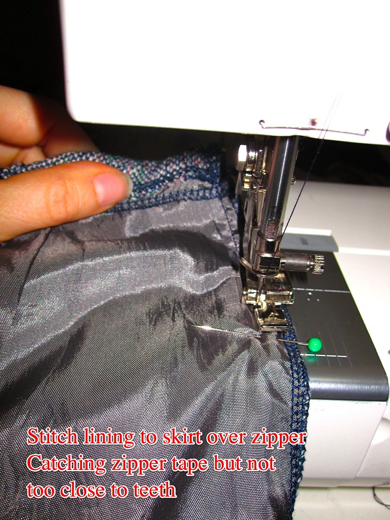 Stitch Lining to Skirt