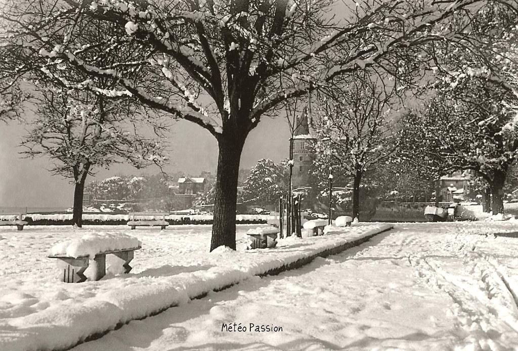 Pornic sous la neige pendant l'hiver 54