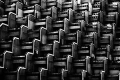 Just another bleak human beehive (Effe.Effe) Tags: bw monochrome architecture pattern geometry bn senigallia bwdreams lepiramidi orroreediliziosulmare