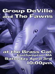 Brass Cat Poster for Group Deville and The Fawns