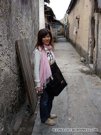 Rachel in the alley