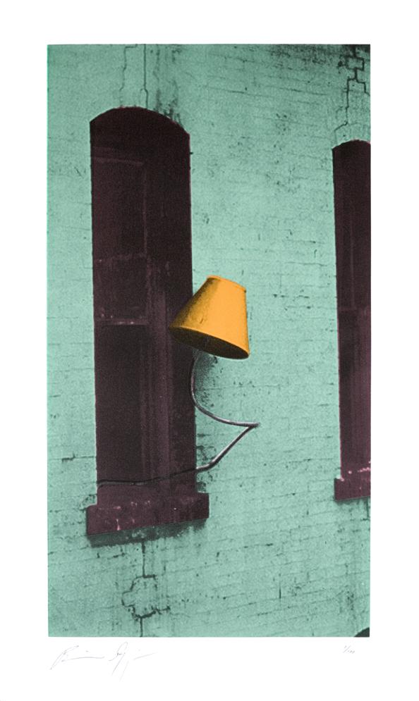 """Defenestration Lamp"" by Brian Goggin - $175 (Unframed) / $475 (Framed)"