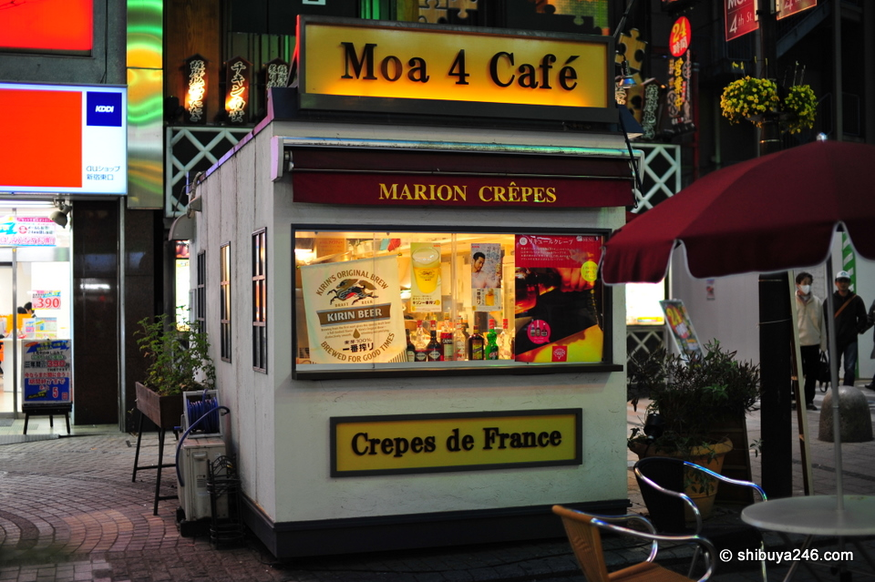 A nice looking crepe cafe on one of the streets.